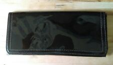 Vintage 1980s glossy black patent clutch bag purse