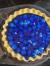 """Blueberry Pie Candle 8"""" w/pie tin and pie container Handmade to Order by Jordan"""