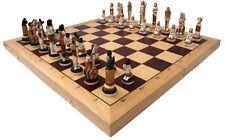 """Schach Exklusives Schachspiel """"Ägypten"""" Handbemalt 65 x 65 cm KH 130 mm Marmor"""