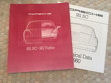 PORSCHE 911 SC COUPE & TARGA PRESTIGE SHOWROOM SALES BROCHURE 1980 USA EDITION.