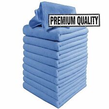 Microfibre Cleaning Cloths, 10 Pack, Blue, Microfibre Dusters, Machine Washable