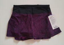 NWT Lululemon Circuit Breaker Skirt Sz 2 R Aurora Black Skorts Tennis, Dress
