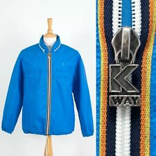 MENS VINTAGE K-WAY WATERPROOF JACKET CAGOULE RAIN KAGOUL SAILING OUTDOORS S