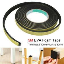Self Adhesive Foam Sealing Tape Strip 5M Sticky EVA Sponge Rubber 12mm-50mm Wide