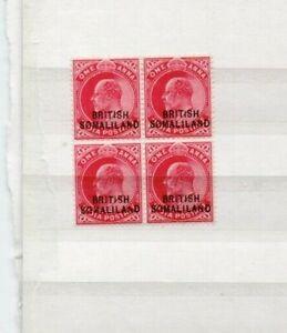 A very nice Edward VII unused Somaliland overprinted Block of 4
