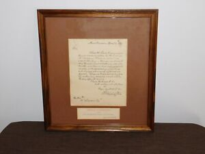 APRIL 14th 1789 GEORGE WASHINGTON MOUNT VERNON INAUGURATION LETTER