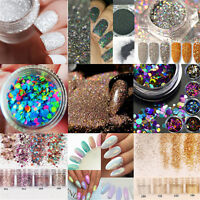 DIY Nail Art Glitter Powder Dust For UV GEL Acrylic Powder Decoration Nail Tips