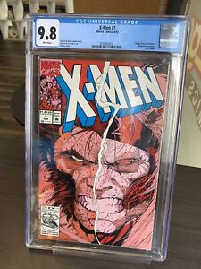 X-MEN #7 ~ CGC 9.8 ~ WHITE PAGES ~ OMEGA RED APP ~ MARVEL COMICS ~ JIM LEE COVER