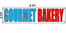 Gourmet Bakery Banner Sign 2x8
