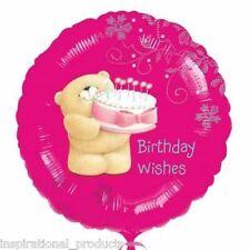 "Anagram Pink FOREVER FRIENDS HAPPY BIRTHDAY WISHES Round Foil Helium Balloon 18"""