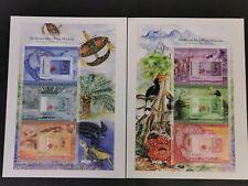 2012 malaysia malaysian currency 2nd series birds pair stamp sheet MNH