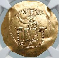 JOHN II Ancient 1118AD Gold Ancient Byzantine Coin JESUS CHRIST NGC i87799