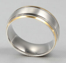 8MM gold silver men women plain wedding ring engagement band size W    alis09132