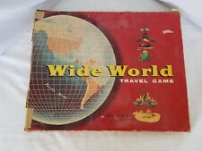 Vintage Parker Brothers Wide World travel board game w/space ships 1957
