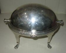 Antique unusual silverplate gravy boat, hallmarked