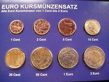 manueduc   GRECIA  2010  Las 8 Monedas  Nuevas SC con 2 €  Conmemorativa  MARATÓ