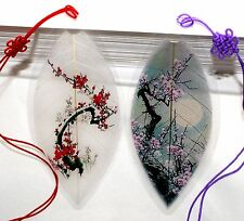 Lucore Leaf Bookmarks -Made of Real Leaves - 2 Pcs Cherry Blossom Tree Design
