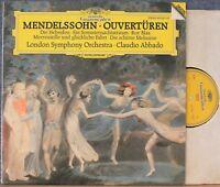 Abbado. Mendelssohn (Overtures). DGG 423 104 dig. NM