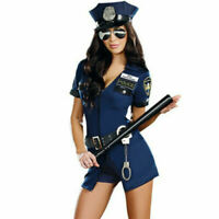 Halloween Adult Women Police Cosplay Sexy Female Cop Police Uniform Costume