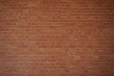 Dolls House 1/12th Scale Weathered Red Brick Wall paper