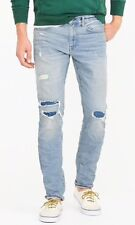 df44bd83e7b4a NEW JCREW  138 484 Slim-fit stretch jean in distressed patchwork Sz32 30  G7144