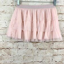 Danskin Freestyle Girls Tutu Tulle Dance Skirt Size L 10/12 Pink Pull On