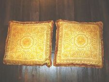 "VERSACE HOME COLLECTION Versace Atelier Pillows  100% Silk   18"" x 18""  Set of 2"