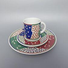 Arzberg 6070 Kaffeegedeck 3tlg Kaffeetasse mit Untertasse Kuchenteller (2) (D)