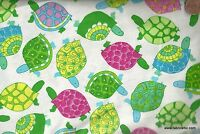 Colorful fun tossed turtles Timeless Treasures fabric