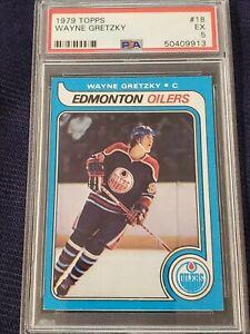 1979-80 Topps Wayne Gretzky #18 Rookie Card!! PSA EX 5 Looks Like a PSA 6 to Me!