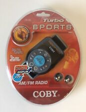 COBY ALL WEATHER SPORT DIGITAL AM/FM RADIO WITH ARM BAND TURBO SPORTS CX-96