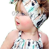 Toddler Lovely Girl Kids Infant Flower Bow Hairband Turban Knot Rabbit Headband