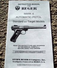 Sturm Ruger Mark II  Automatic Pistol Manual 1980's 18 pages