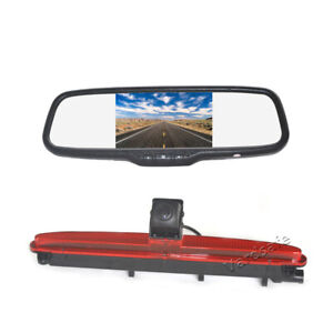 Brake Light Reverse Backup Camera &5'' Rear View Mirror Monitor for Iveco Daily