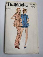 RETRO VINTAGE  DRESS  SEWING PATTERN, top, pants & shorts . Size 11.