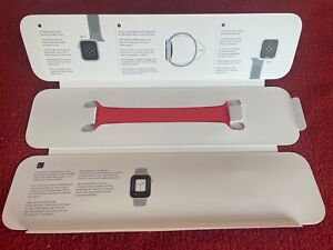 (Product) Red GENUINE APPLE WATCH SOLO LOOP STRAP 44MM (SIZE 6)