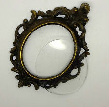 Vintage Miniature Brass Frame with original glass