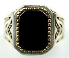 Men's Black Onyx Ring Sz 10.5 US  Sterling Silver