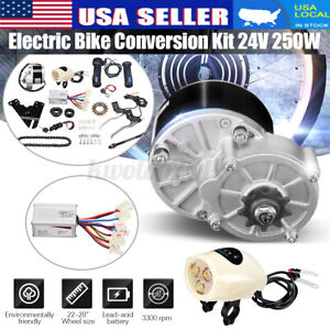 24V 250W Electric Bicycle Bike 22-28 inch ordinary bicycle Motor Conversion Kit