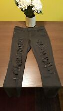 Almost Famous Junior's Black Size 7 Jeans. Free Shipping
