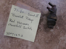 NOS 1971-80 International Harvester Scout II Red Vacuum Switch OEM# 384716C2