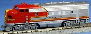 KATO N Scale ATSF EMD F7A Warbonnet Santa Fe Diesel Locomotive #176-2121