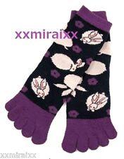 "NINJA Tabi Socks ""rabbits  -navy/ purple""  5 toe-socks wagara 5-toes  from JAPAN"