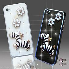 NEW 3D DELUX BLING DIAMANTE FLOWER ANIMAL CASE COVER FOR VARIOUS MOBILE PHONES