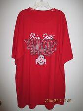 Men's Clothing Vinatge Ohio State University Buckeyes Collegiate Red T-Shirt New