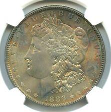 1886 Morgan Dollar, NGC MS63, Pretty Toning