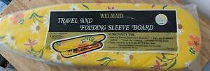 Vintage Retro Travel & Folding Ironing Board Mod Floral Flower Power NOS