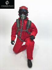 "1/6 ~ 1/5 Scale 12"" Tall Modern Jet Fighter Pilot Figure (Red)"