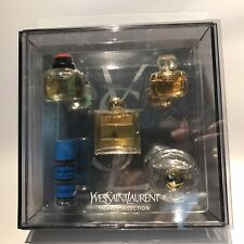 YSL Yves Saint Laurent miniature parfum set 5pcs: Paris, Yvr, Opium, Rive, Baby
