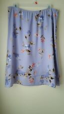 Liz Claiborne First Issue Lavender Floral Tiered Pull On Skirt Size L